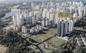 Localização do edifício Grand Palais na região de Londrina